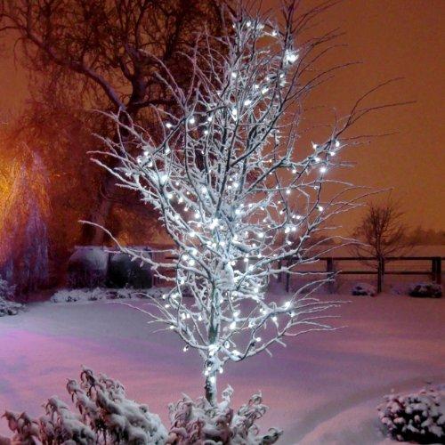 900er LED Lichterkette weiß, Außen, anschließbar, Typ C