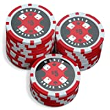 Sleeve of 25 World Poker Club $5 Red Poker Chips Clay 14gby Bullets Poker
