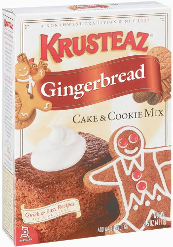 Krusteaz Gingerbread Cake & Cookie Mix, 14.5-Ounce Boxes (Pack of 4)