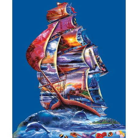 Cheap SunsOut Steve Sundram High Seas Shaped Jigsaw Puzzle (B001YJYI4A)