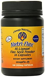 Omega Nutrition, Hi-Lignan, Flax Seed Powder Capsules, 550mg, 180-Count