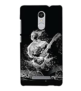 PrintHaat Designer Back Case Cover for Xiaomi Redmi Note 3 :: Xiaomi Redmi Note 3 Pro :: Xiaomi Redmi Note 3 MediaTek (guitar lover :: guitar player :: Musical design :: Music note design :: Instrumental design :: Melody design :: Music rock design :: love playing on guitar)