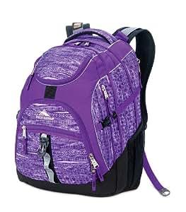 High Sierra Access Backpack (20 x 15 x 9.5-Inch, Purple Print)