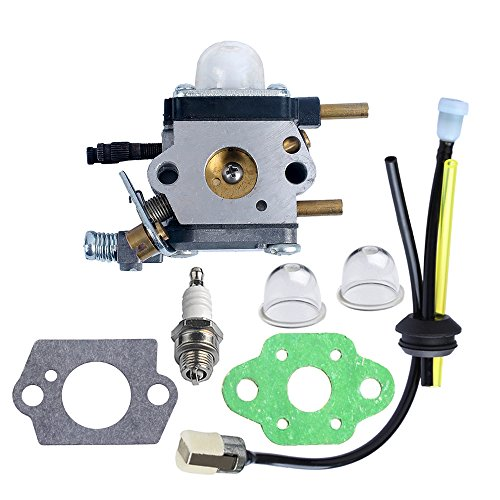 Sale!! HIPA C1U-K54A Carburetor with Gasket Repower Kit Spark Plug for Echo Mantis Tiller 7222 7222E...