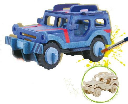 puzzle-3d-jeep-23x15x18-38-pcs-avec-detrempes