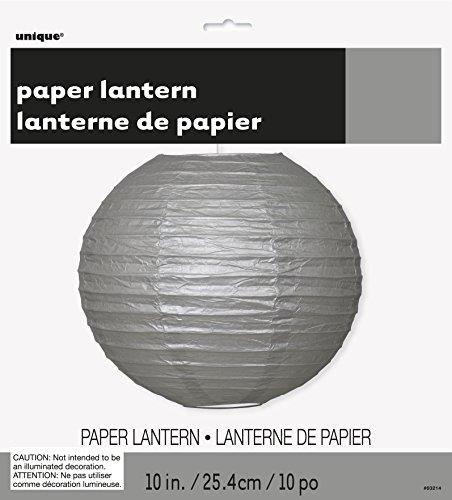 """10"""" Round Silver Paper Lantern"""
