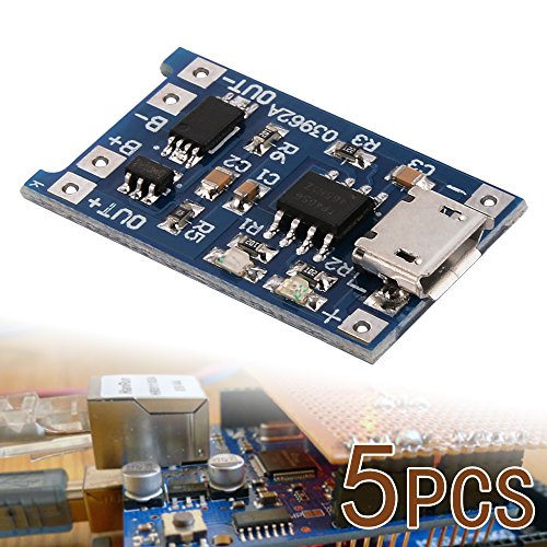XCSOURCE 5 pcs 1A 5V Micro USB TP4056 Lithium Battery Power Charger Board Module TE420 (Lithium Charger Module compare prices)