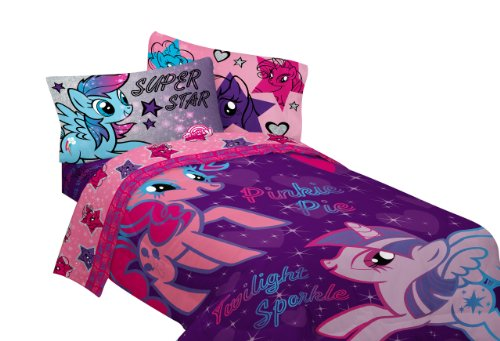 Why Choose Hasbro My Little Pony The Stars are Out Sheet Set, Twin
