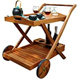 Outdoor FSC Eucalyptus Serving Cart