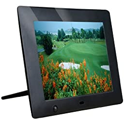Latest Version - M-zone 8 inch Hi-Res Digital Photo Frame with Motion Sensor