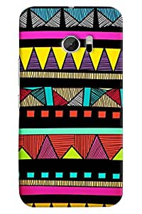 Omnam Colors Pattern Printed Designer Back Case For HTC 10