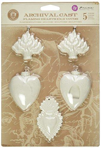 prima-marketing-platre-relic-et-objets-darchives-en-fonte-embellishments-flaming-coeurs-exvotos-ii