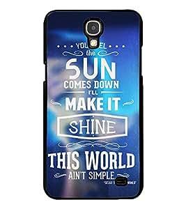 Fuson Premium Shine This World Metal Printed with Hard Plastic Back Case Cover for Samsung Galaxy Mega 2 G7508