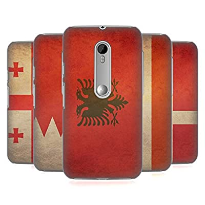 Head Case Designs Vintage Flags Set 6 Hard Back Case Cover for Motorola Phones 1