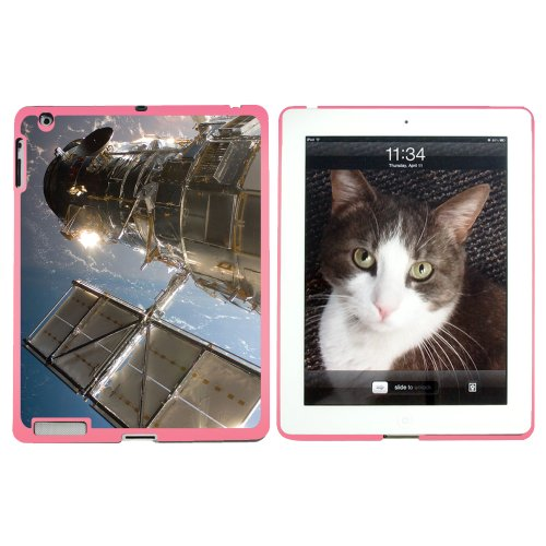 Hubble Telescope - Astronomy Space - Snap On Hard Protective Case For Apple Ipad 2 2Nd 3 3Rd 4 4Th (New) Generations - Pink
