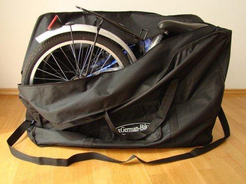 xGerman Faltrad-Transporttasche Klapprad 16'-26' Fahrradtasche Schwarz, Markenqualität