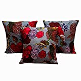 Rastogi Handicraft Cotton Foxy Single Cushion Cover L: 41cms, W: 41cms - SET OF 5 CUSHION COVER