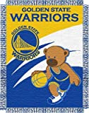 NBA Golden State Warriors 36-Inch-by-46-Inch Woven Jacquard Baby Throw at Amazon.com