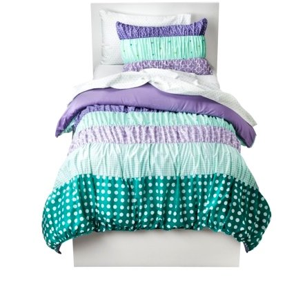 Purple And Green Bedding 174883 front