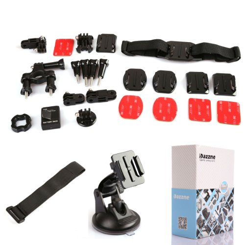 Dazzne 10 in 1 Gopro Accessory Kit Bicycle Handlebar