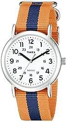 Timex Unisex TW2P682009J Weekender Varsity Row Analog Display Quartz Orange Watch