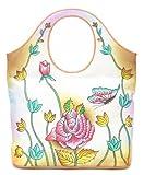 Zimbelmann Damen Henkeltasche / Shopper / Handtasche aus echtem Leder - Nappaleder - handbemalt - Rosanna