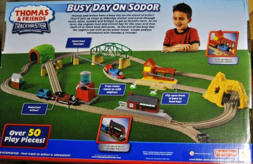 Thomas & Friends Trackmaster Motorized Railway - Busy Day on Sodor Deluxe Train Set