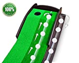 Putting Aid Golf Indoor Putting Mat Automatic Golf Putting Practice Training Aid Premium Wooden Putting Green for Executive Level Playing 100%