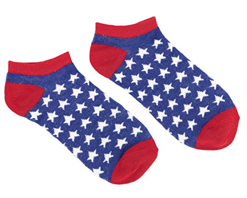 Patriotic No Show Socks 2 Count