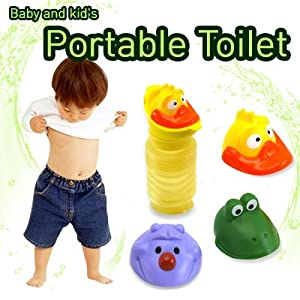 Baby and Kids Children Portable Toilet Potty Potties Urinal 3 Character