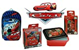 Disny Pixar Car's Learn With Speed Backpack & Mealtime ChillPak Bundle! Cars 16 Backpack PLUS 4. Pc Resuable Food Container Set w/ Hot & Cold Technology! Featuring Lighting McQueen & Mater