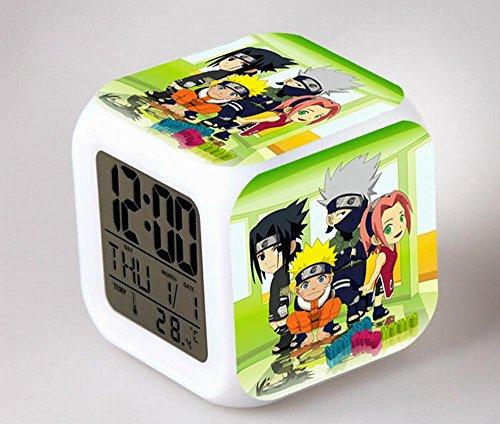 GUOHUA®Naruto Anime Cartoon création réveil coloré pour enfants réveil réveil numérique horloge analogique horloge lumineuse , # 2