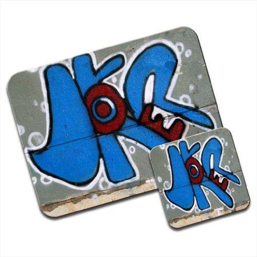 Joker Graffiti Art a parete Premium Mousematt & sottobicchieri