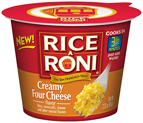 Rice a Roni Cups, Creamy Four Cheese, Individual Cup (Pack of 12 Cups) (Single Serve Microwave Dish compare prices)