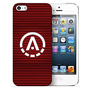 Snoogg A Red Designer Protective Back Case Cover For IPHONE 5