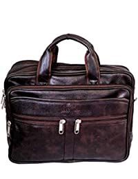 """Stylish 14"""" Small Brown Colour Faux Leather Office Bag By-Widnes"""
