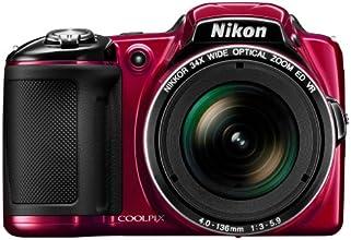 Nikon Coolpix L830 Digitalkamera (16 Megapixel, 34-fach opt. Zoom, 7,6 cm (3 Zoll) RGBW-LCD-Display, bildstabilisiert, Dynamic-Fine-Zoom, Full-HD) rot