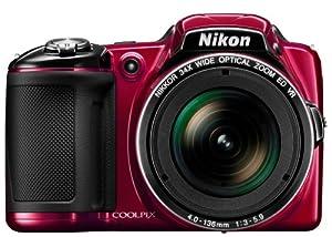 """Nikon Coolpix L830 Appareil photo numérique compact 16,8 Mpix Ecran 3"""" Zoom optique 34x Rouge"""