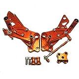 調整型 CNC バックステップ 可倒式 適応モデル DUKE 125 200 390 オレンジ