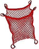 Harmatex 600304 - Bolsa de malla para carrito con cierre r�pido, color rojo