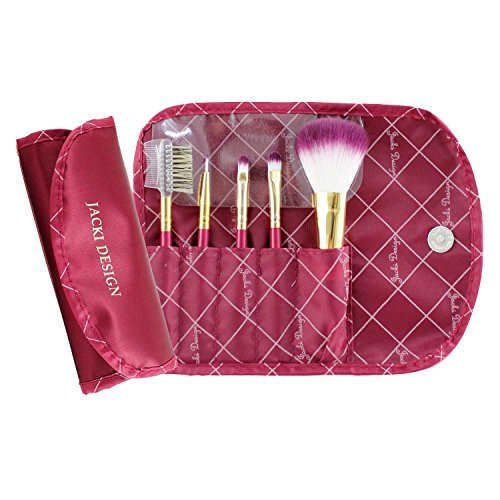 jacki-design-vintage-allure-5-pc-make-up-brush-set-w-bag-burgundy-fyd33103-by-jacki-design
