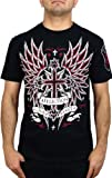 Affliction Mens Vibrant T-Shirt XXL Black