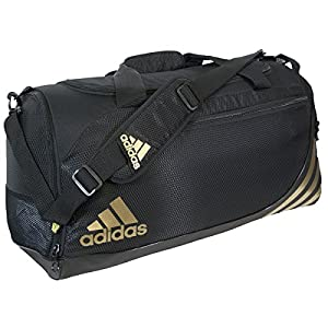 adidas Team Speed Small Duffel, Black/Metallic Gold, One Size