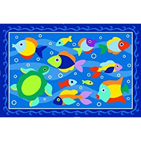 LA Rug Somethin inch Fishy Rug 39x58