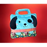 ShopyBucket Cute Animal Face Super Soft Velvet Covering Baby Bag Cum Blanket Size 42 X 56""