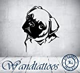 das-label-Sticker-mural-chien-Tattoo-Carlin-en-3-tailles-de-choix-Chambre-denfant-Animaux-Tattoo-Intrieur-noir-Large