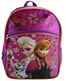 Disney Frozen Princess Elsa & Anna Backpack, Large 16 School Bag, New Licensed Design