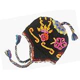 Nepal Hand Knit Ear Flaps Beanie Trapper Trooper Ski Heavy Wool Fleeced Hat Cap by Kathmadu