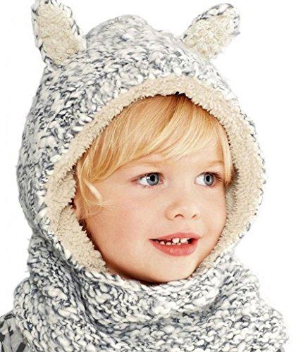 V-SOL Gorra / Sombrero / Gorro Para Niños Bebés Con Cuello Gris Talla S