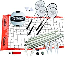 Triumph Sports Volleyball Badminton Combo Set